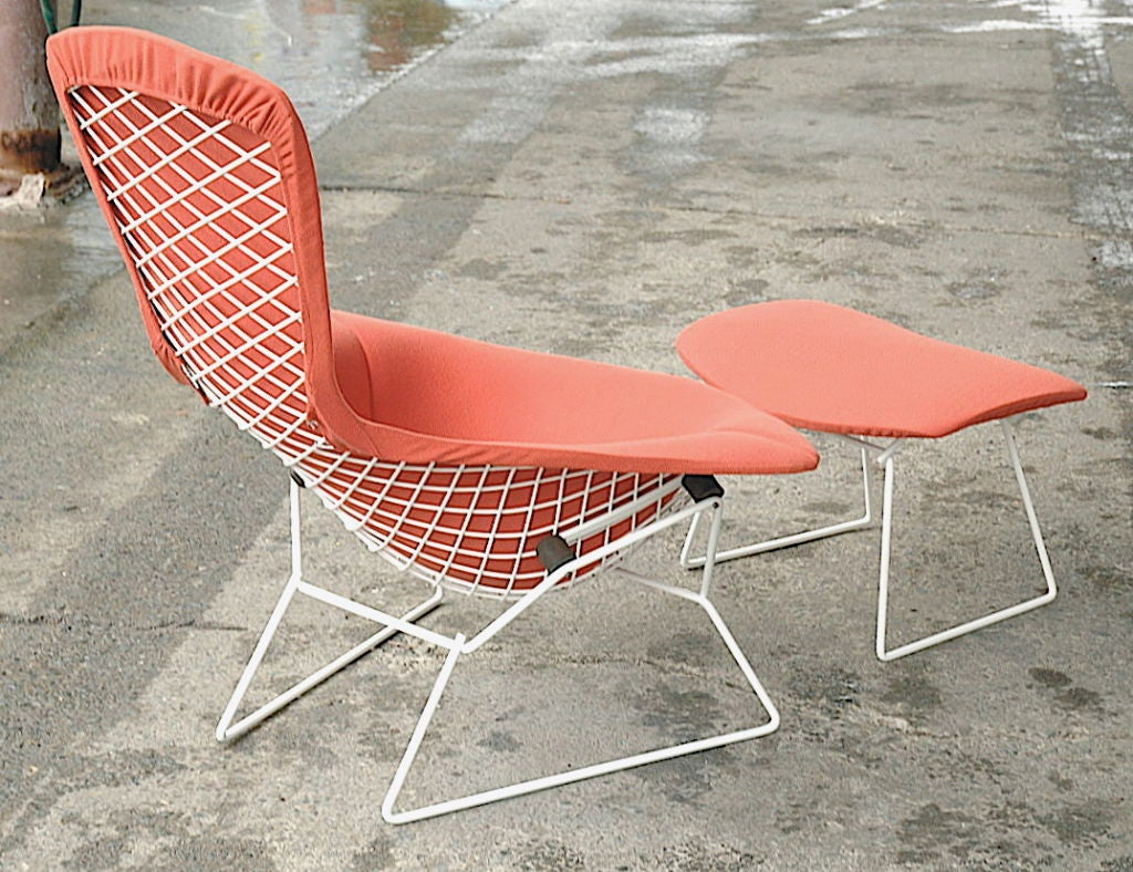 Vintage Bird Chair and Ottoman by Harry Bertoia image 4