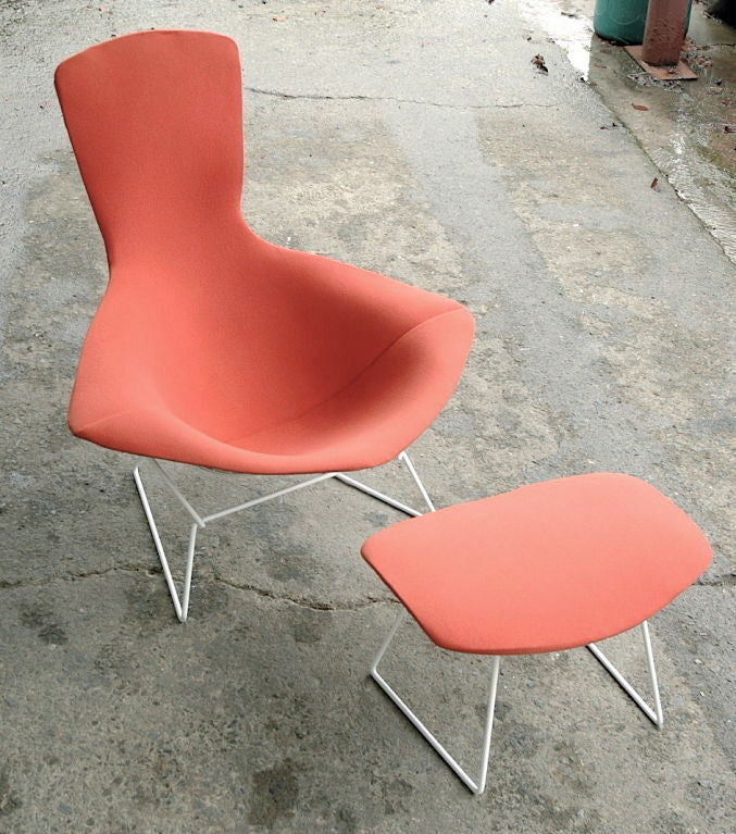 Vintage Bird Chair and Ottoman by Harry Bertoia image 6