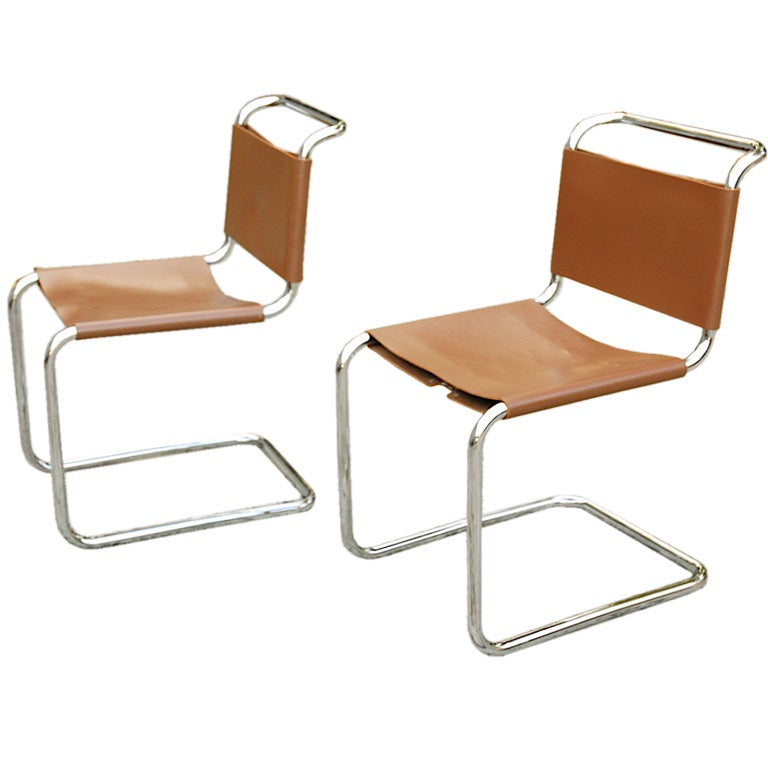 pair of marcel breuer spoleto chairs for knoll at 1stdibs. Black Bedroom Furniture Sets. Home Design Ideas