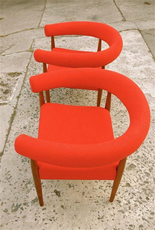 pair of nanna and jorgen ditzel ring chairs aka sausage