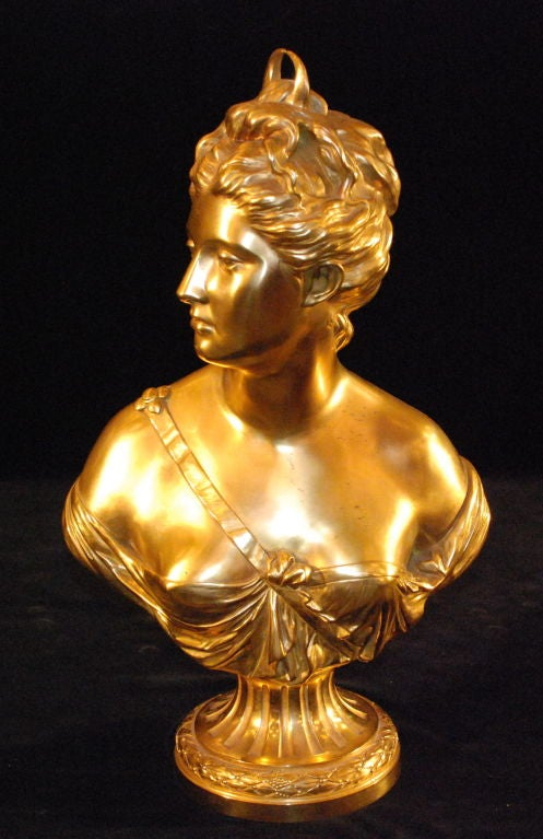 Antique French  Bust Of Diana 2