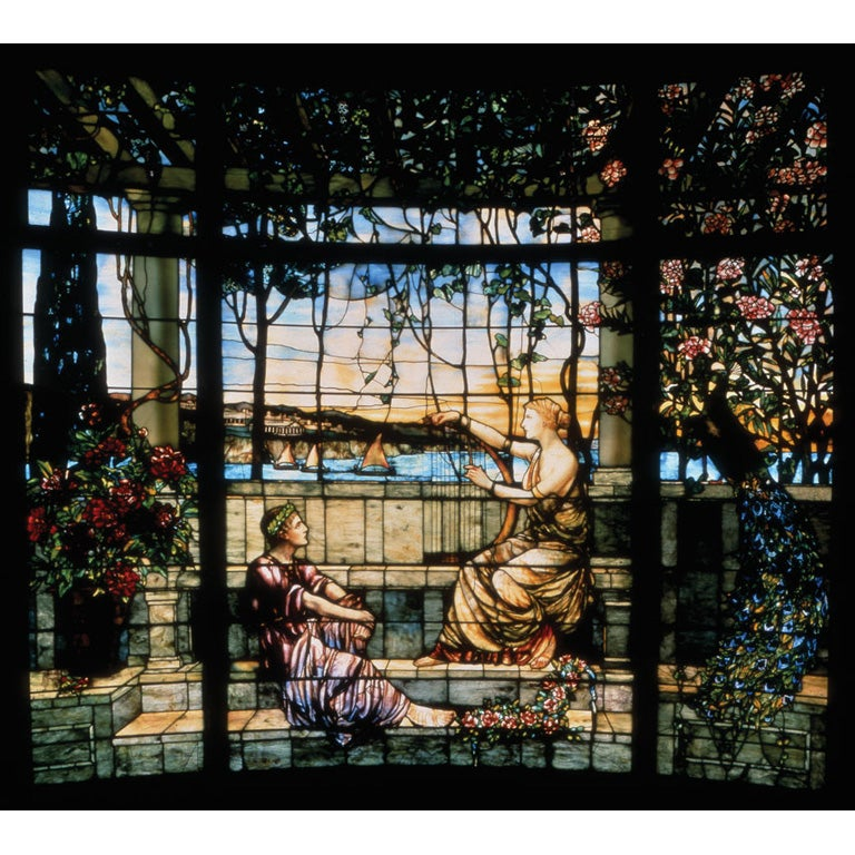 Tiffany Stained Glass Window Twilight At 1stdibs