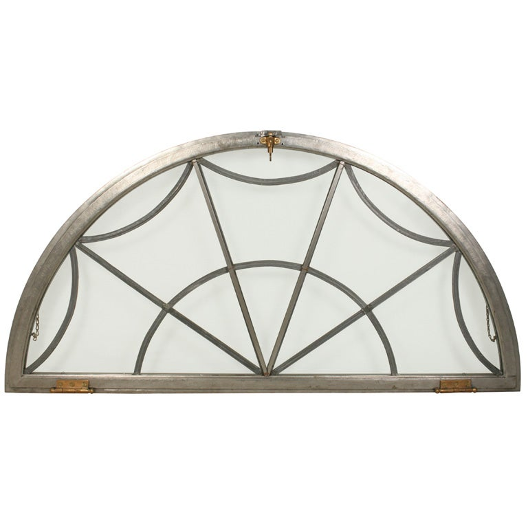 Leaded Glass Arched Window at 1stdibs