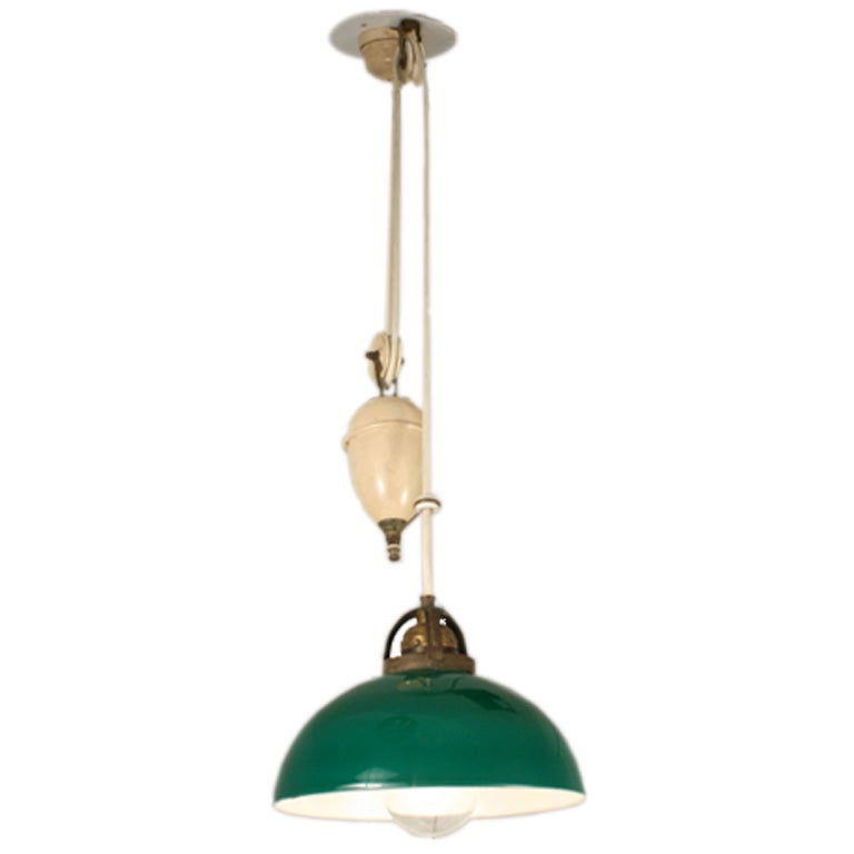 Adjustable Height Hanging Light With Counter Weight At 1stdibs