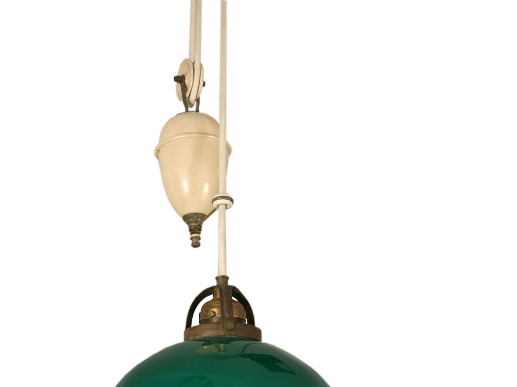 Height For Pendant Lighting : Adjustable height hanging light with counter weight at stdibs