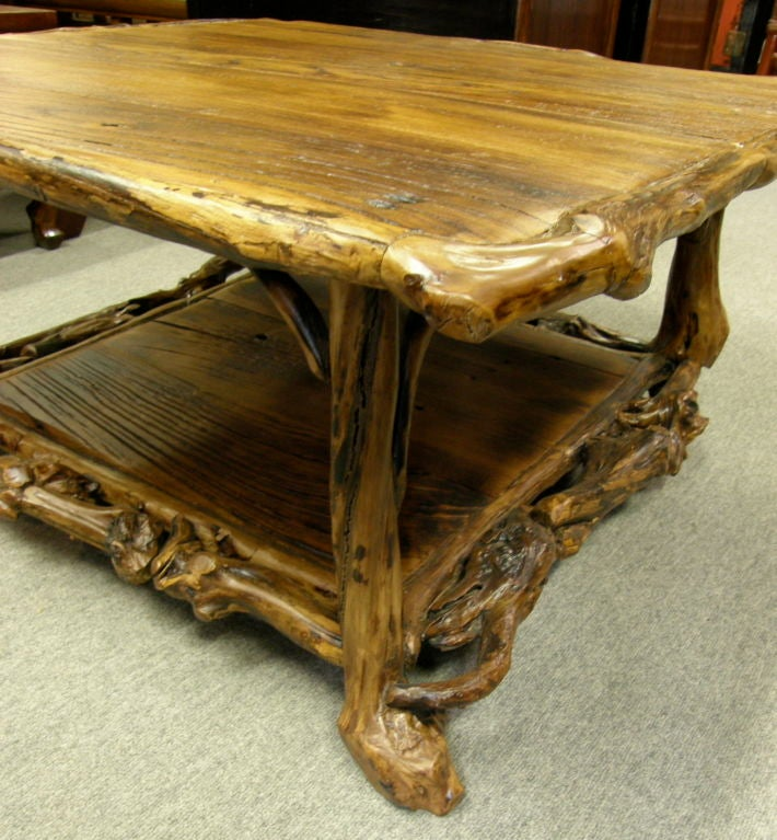 Old Chinese Rustic Country Root Coffee Table At 1stdibs