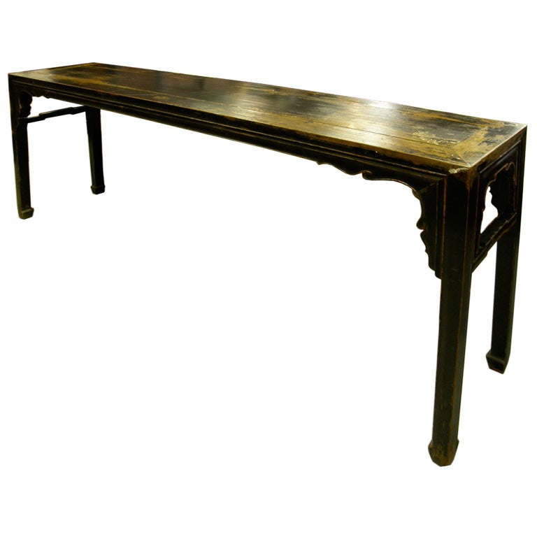 Fine large antique chinese altar console sofa hall table for Hall console table