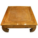 Antique Chinese chow leg bamboo top kang coffee table