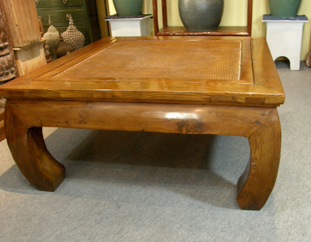 Antique Chinese Chow Leg Bamboo Top Kang Coffee Table At 1stdibs