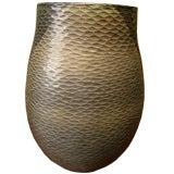 Thailand contemporary artisan made ceramic glazed jar vase
