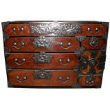 Antique Japanese Meiji period tansu chest of drawers dresser