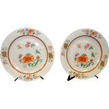 PR OF ANTIQUE CHINESE PORCELAIN DECORATED CHARGERS