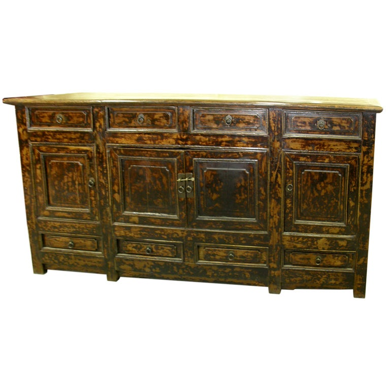 Antique chinese altar coffer sideboard buffet console for Asian console cabinet