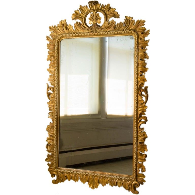 An italian baroque style giltwood frame mirror at 1stdibs for Mirror frame styles