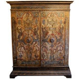 Museum Quality Painted Italian Armoire date 1530 Tuscan region
