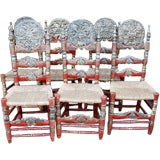 Excellent Set of (6) 19th Century Spanish Mallorcan Chairs