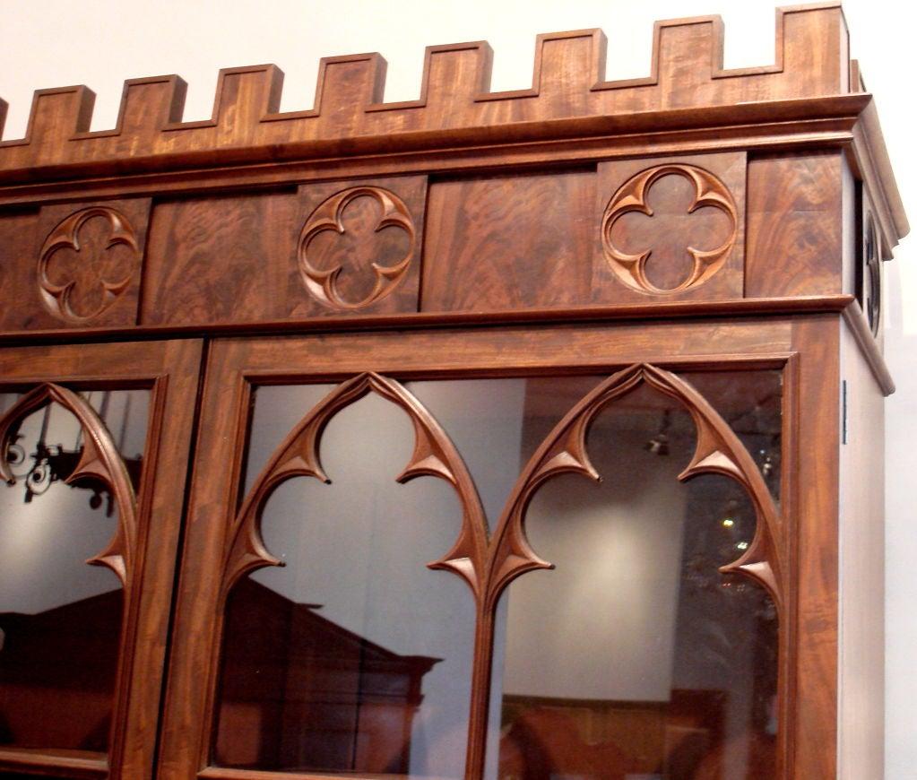 Rare American Gothic Secretary Bookcase 3 - Rare American Gothic Secretary Bookcase For Sale At 1stdibs