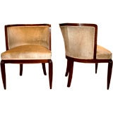 Pair of Stylish Period Ruhlman Type French Deco Chairs