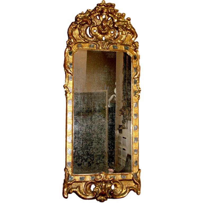 Period 18th Century Danish or Swedish Mirror