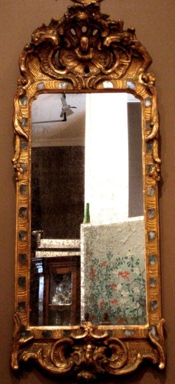 Period 18th Century Danish or Swedish Mirror 1