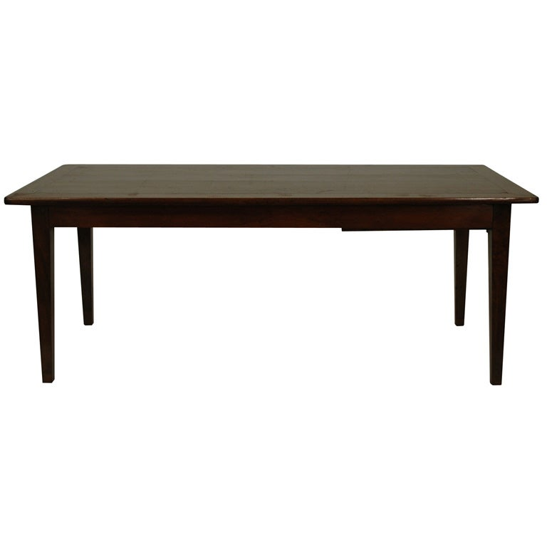 Farm table with breadboard ends at 1stdibs for Dining room table 32 wide