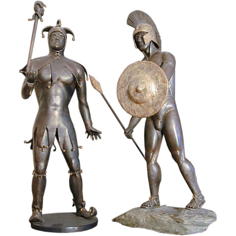 1960s Welded Steel and Bronze Sculptures