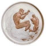 """Bathers"" Tray, Rare Ceramic from Laguna Beach, 1951"