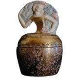 French Art Deco Lidded Jar