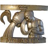 1930s Architectural Panel with Aquarius Motif