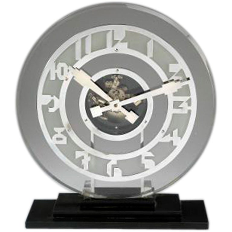 large glass deco clock by hatot for ato