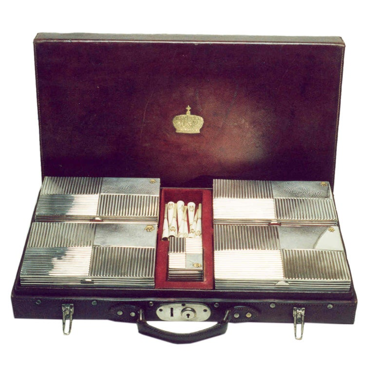 The cigar smoking set of His Royal Highness Kaiser Wilhelm II. For Sale