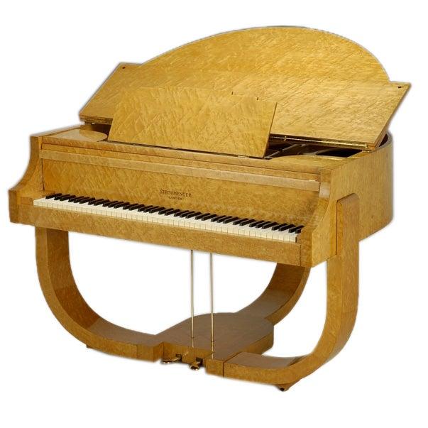 Art deco 39 boudoir grand 39 piano by j strohmenger and sons for Piani art deco