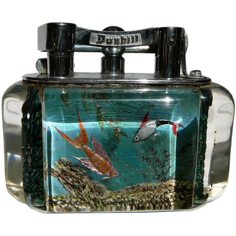 Alfred Dunhill 'Aquarium' table lighter.