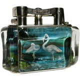Alfred Dunhill 'Flamingo' Aquarium table lighter.