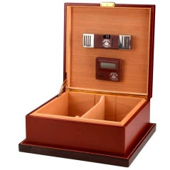 Leather humidor by Paul Dupré Lafon (1900 - 1971) for Hermès, c. 1940s thumbnail 2