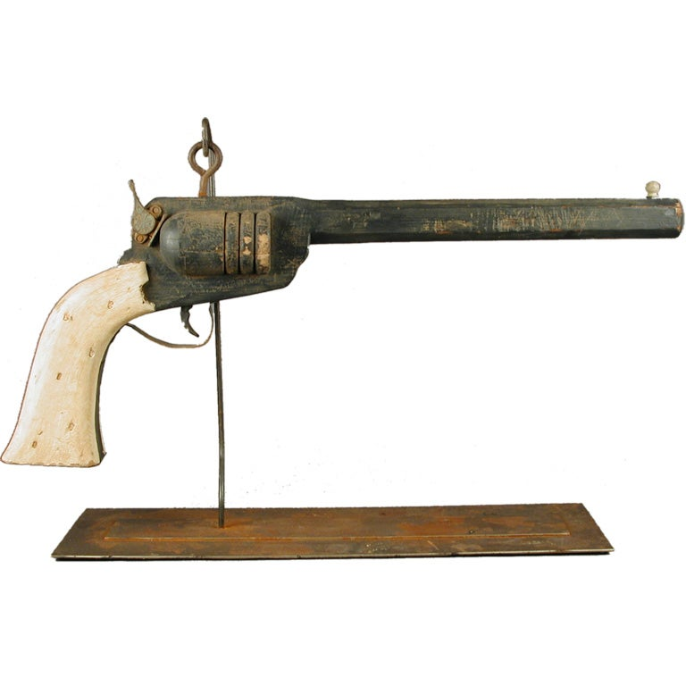 Antique Gunsmith Trade Sign American Pistol At 1stdibs