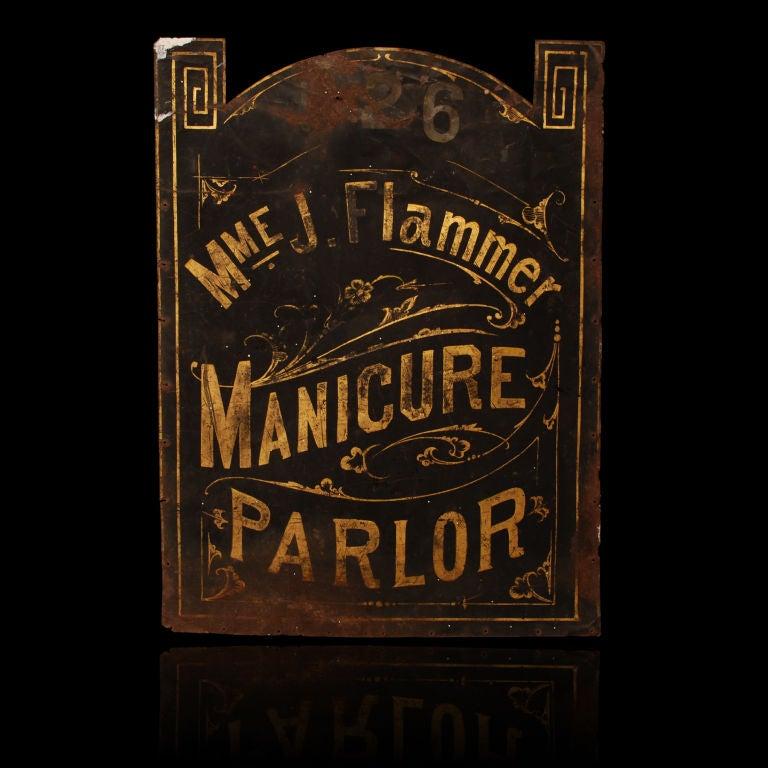 Madame Flammer's Manicure Parlor - Vintage Trade Sign image 2