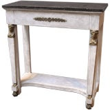 Small Empire Style Painted Console Table.