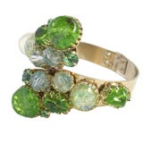 Green Stone Hinged Bracelet