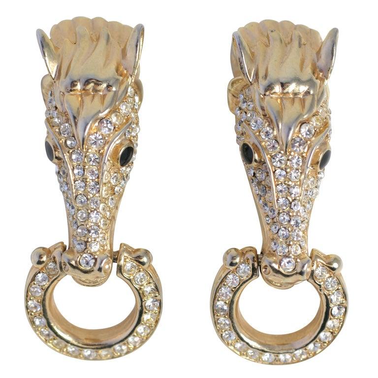 Pair of Horse Head Earrings