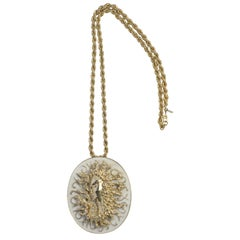 Ciner Medusa Pendant Necklace, Costume Jewelry