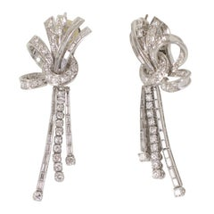 Fanciful Bow Drop Earrings