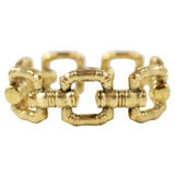 18kt Yellow Gold Faux Bamboo Bracelet