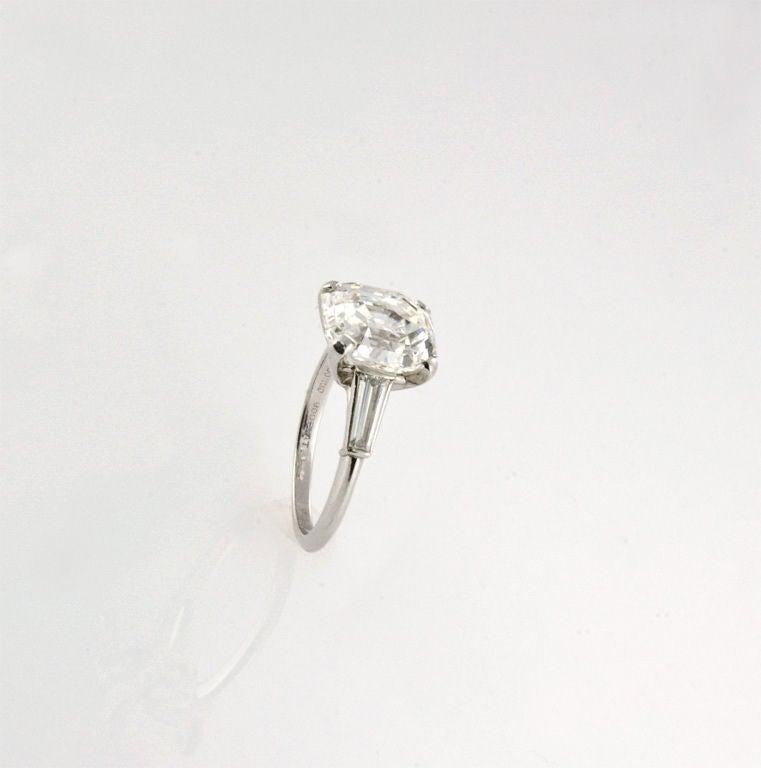 Original vintage Asscher cut diamond ring at 1stdibs