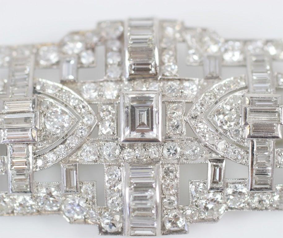 Art Deco Diamond Brooch For Sale 1