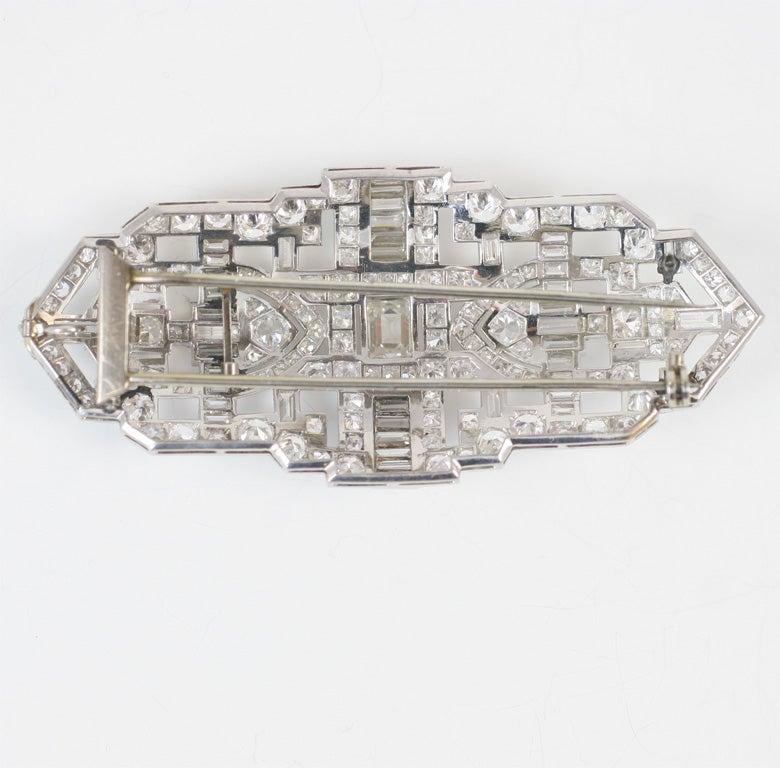 Art Deco Diamond Brooch For Sale 2