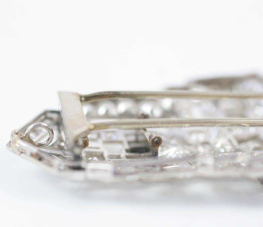Art Deco Diamond Brooch For Sale 4