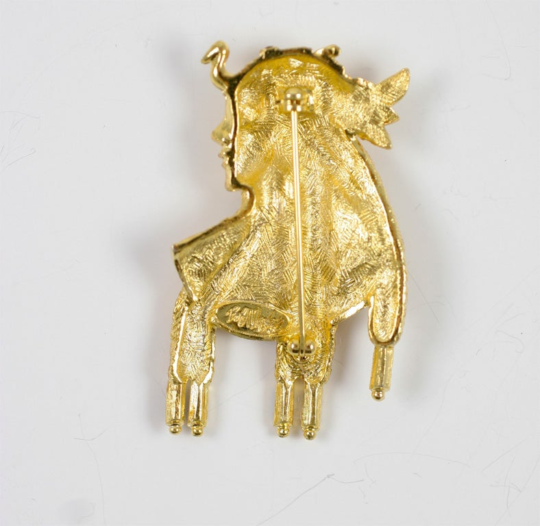 Bob Mackie Cleopatra Brooch For Sale 2
