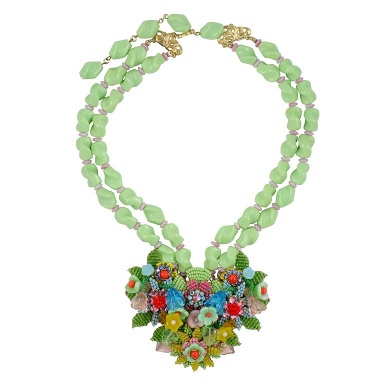 Stanley Hagler Multi Color Necklace