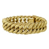 18kt Yellow Gold Braided & Chased  Rope Bracelet